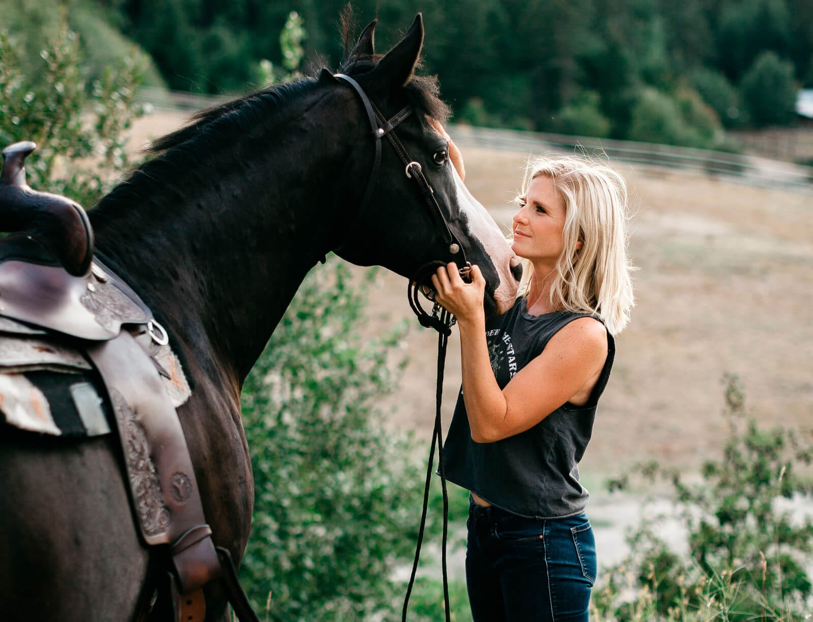 Tara with her horse